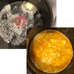 オムライス卵作り