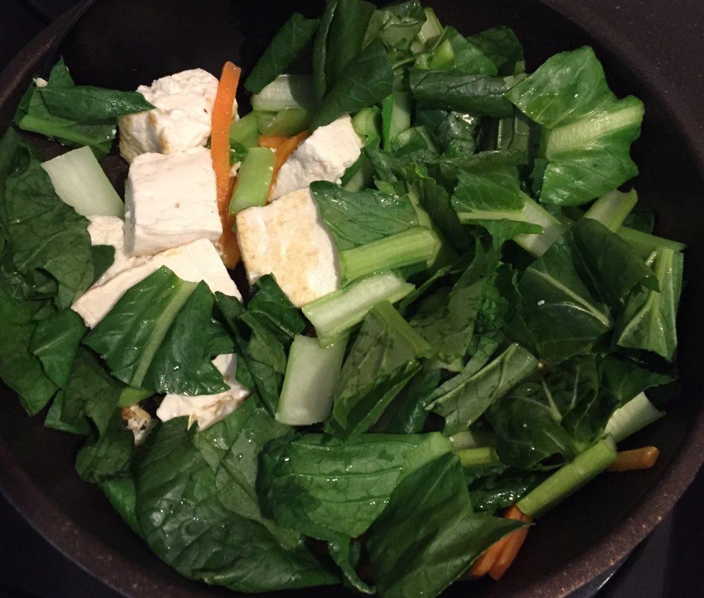 副菜の豆腐炒め